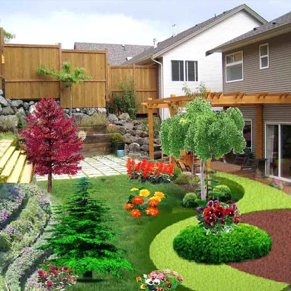 Landscaping area